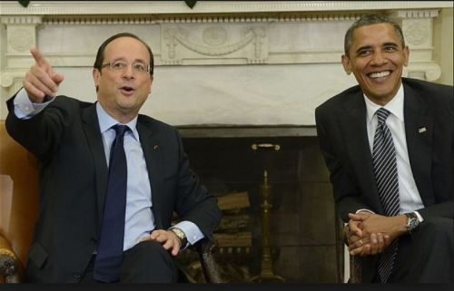 Francois Hollande with the POS