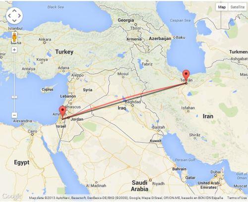 Tehran to Jerusalem