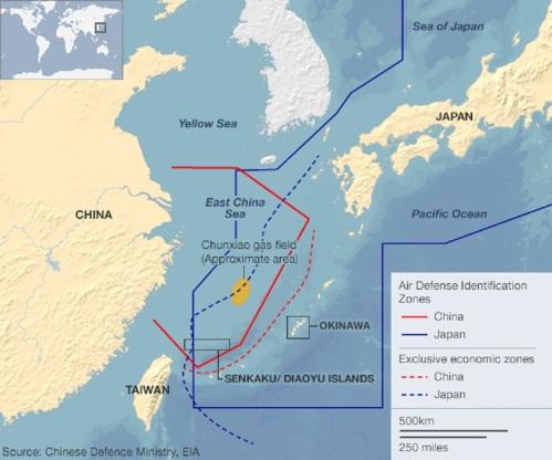 China-Japan ADIZs