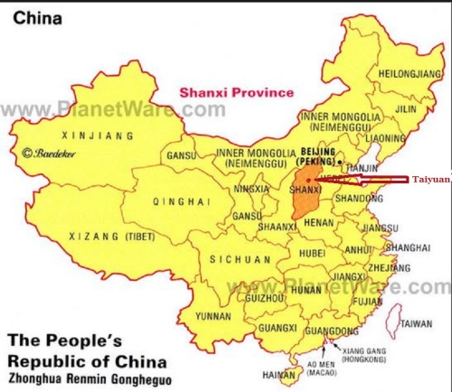 Shanxi map