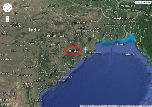India Orissa-Odisha map