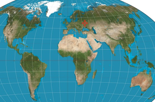 world map Ukraine