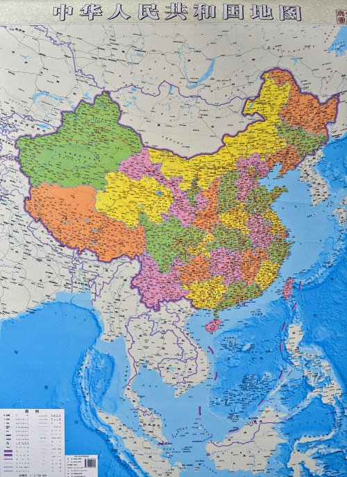 New map of China 2014