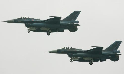 F-2 fighters in Japan's Air Self Defense Force