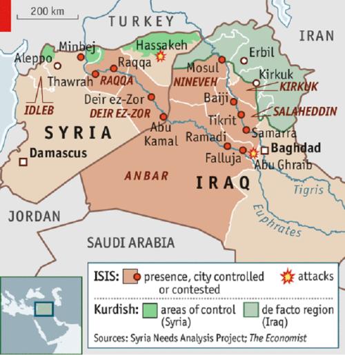 ISIS territory