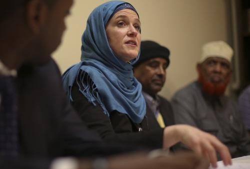 Mayor Betsy Hodges in hijab