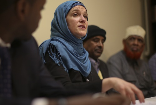 Mayor Betsy Hodges in hijab