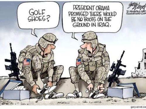 no boots on ground in Iraq