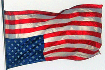 upside down U.S. flag