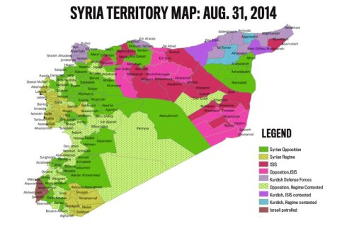 Syria Territory Map Aug. 2014