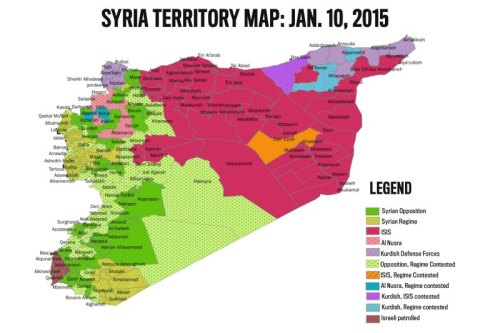 Syria Territory Map Jan. 2015