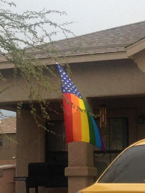 LGBT flag at Davis Monthan Air Force Base, in Tuscon, Arizona