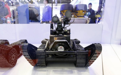 PLA armed attack robot