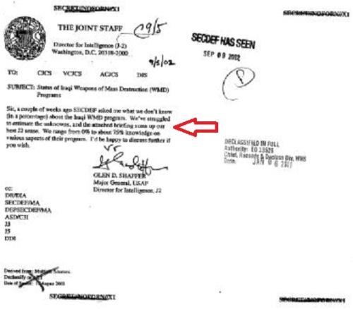 Iraq report Rumsfeld memo to Myers1